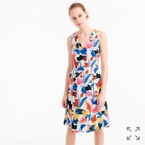 J.Crew Colorful A-line Morning Floral Dress